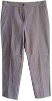 Etro Purple Cotton Trousers for Women