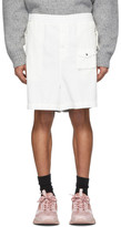 Moncler Genius 2 1952 White and Silver Over-The-Knee Bermuda Shorts