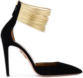 Aquazzura Black Hello Lover Heels - women - Leather/Suede - 41