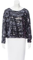 Rachel Zoe Sequined Dolman Top
