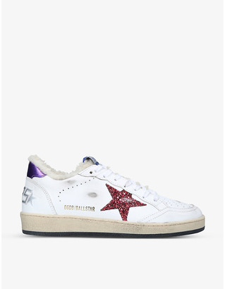 Golden Goose Ball Star shearling-lined leather trainers