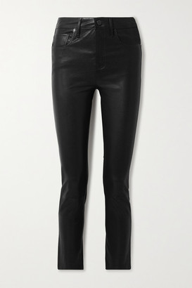 Citizens of Humanity Harlow Leather Skinny Pants - Black