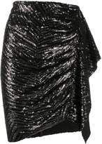 IRO sequin draped skirt