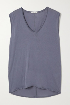 Rag & Bone The Gaia Organic Pima Cotton-jersey Tank - Blue