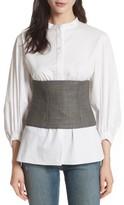 Tibi Women's Chester Glen Plaid Wool Corset