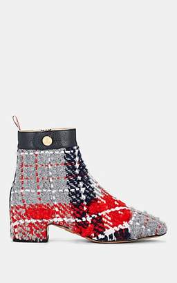 Thom Browne Women's Tartan-Checked Tweed Ankle Boots