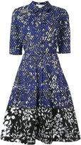 Oscar de la Renta printed shirt dress - women - Cotton/Spandex/Elastane - 6