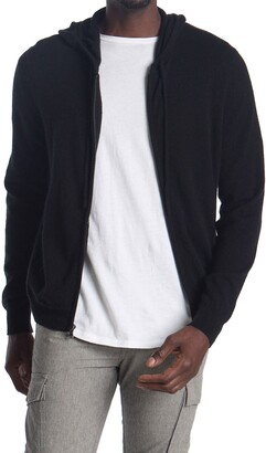 Amicale Cashmere Zip-Up Hoodie