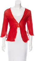 Miguelina Sheer Wrap Top w/ Tags