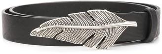 Just Cavalli Feather Buckle Belt