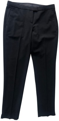 Theory Black Polyester Trousers