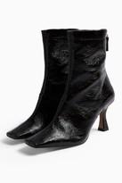 Topshop V VIVA Black Flared Boots