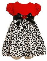 Bonnie Baby Infant Dot-Print-Skirt Dress & Panty Set
