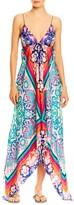 Nicole Miller Flower Bloom Silk Maxi Dress