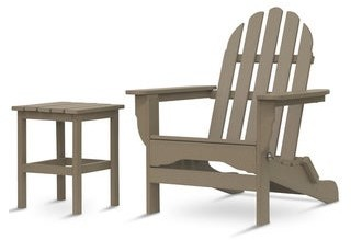 Hawkesbury 2-piece Recycled Plastic Folding Adirondack Chair with Side Table Set by Havenside Home
