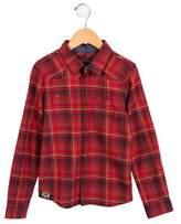 Catimini Boys' Plaid Long Sleeve Shirt
