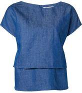 Co layered denim blouse - women - Cotton/Linen/Flax - M