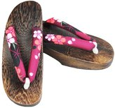 Ez-sofei Women's Japanese Shoes Wooden Clogs 24cm
