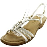Easy Street Shoes Lucca Open Toe Synthetic Wedge Sandal.