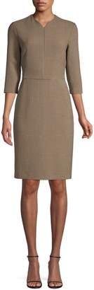 Piazza Sempione Check Sheath Dress