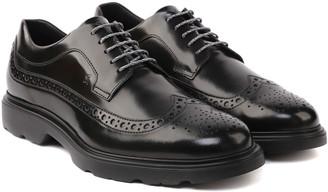 Hogan Black Route Laced Up Shoes