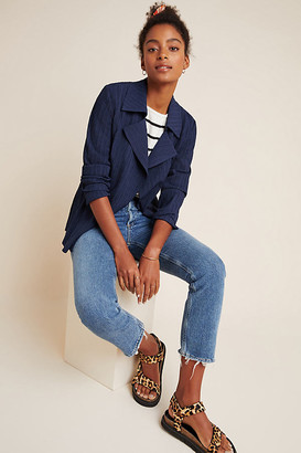 Manon Textured Blazer By Current Air in Blue Size XS