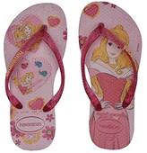 Havaianas Slim Princess Flip Flops (Toddler/Little Kid/Big Kid) (Cream Rose/Lollipop) Girls Shoes