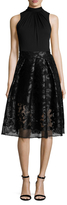 Alexia Admor Lace Skirt Fit And Flare Dress