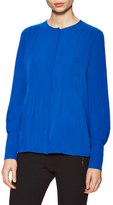 Diane von Furstenberg Vicky Silk Pleated Blouse