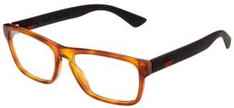 Gucci Men's Gg0174o-30001716007 56Mm Optical Frames