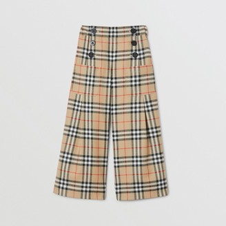 Burberry Childrens Vintage Check Wool Sailor Trousers