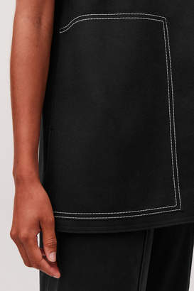 Cos SLEEVELESS WOOL-CASHMERE TOP