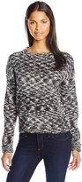RD Style Women's Boucle Pullover Sweater with Elbow Patch