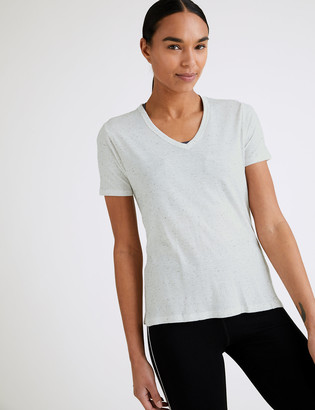 Marks and Spencer Cotton V-Neck Short Sleeve T-Shirt