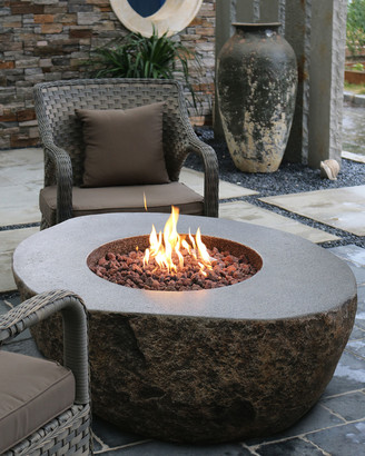 Elementi Boulder Outdoor Fire Pit Table with Propane Gas Assembly