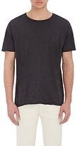 Nudie Jeans Men's Organic Cotton Raw-Edge T-Shirt-BLACK