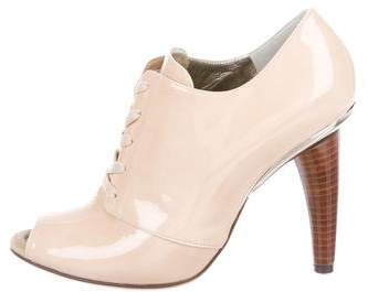 Dolce & Gabbana Patent Leather Peep-Toe Booties