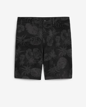 "Express 8"" Pineapple Print 365 Comfort Hyper Stretch Shorts"