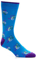 Daniel Cremieux Mercerized Paisley Crew Dress Socks