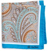 David Donahue Men's Paisley Silk Pocket Square