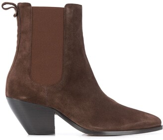 Sandro suede Chelsea ankle boots