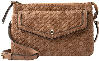 Violet Ray Woven Triple Entry Crossbody - Annabelle
