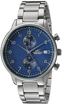Adee Kaye Men's Quartz Stainless Steel Fitness Watch, Color:Silver-Toned (Model: AK7501-MBU)