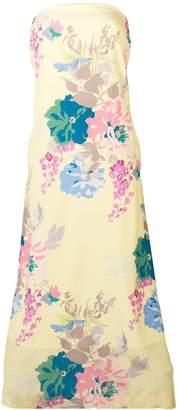 Cavallini Erika floral print strapless dress