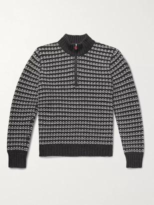 Kiton Slim-Fit Cashmere Half-Zip Sweater - Men - Gray