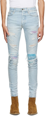 Amiri Blue Watercolor MX1 Jeans