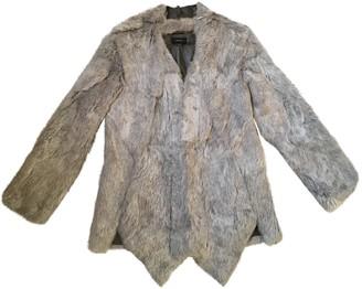 Joseph Grey Rabbit Coat for Women