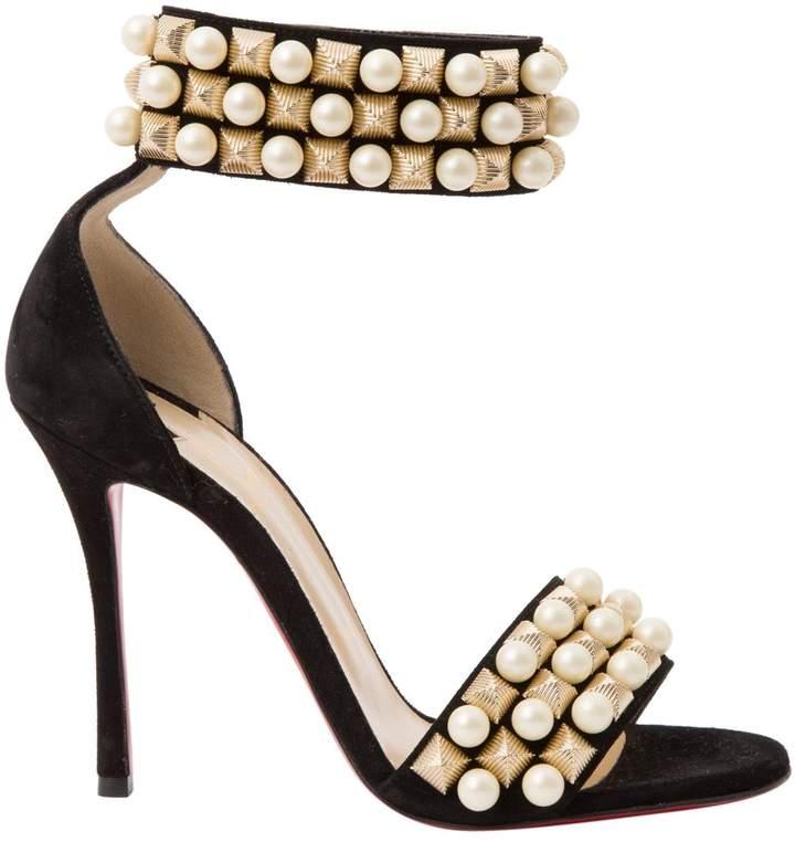 Christian Louboutin Black Suede Sandals