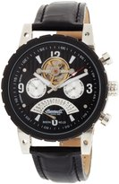 Ingersoll Men's Bison No. 23 IN8207BK Leather Automatic Watch with Dial