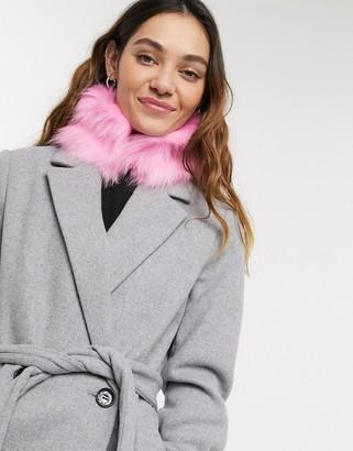 Skinnydip Skinny Dip Pink Fur Vega Snood